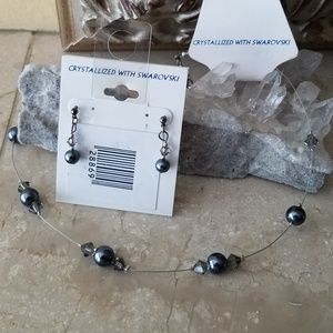 Jewelry - Pearl Illusion Necklace and Earrings